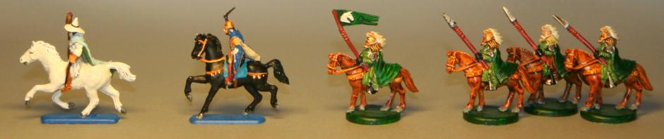 Gandalf Aragorn and Riders of Rohan from War of the Ring